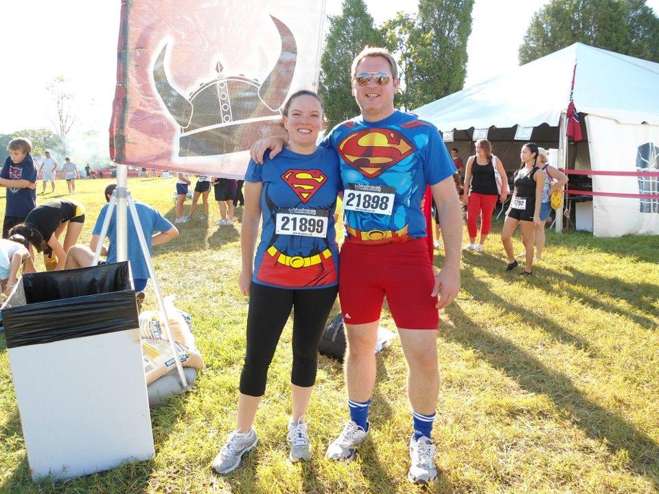 Geoff McGowen and wife doing a fun run.