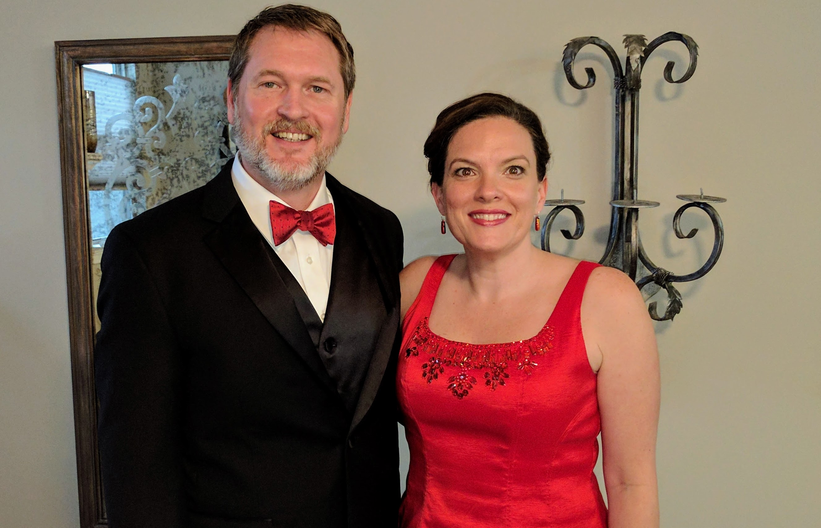 Geoff McGowen and wife dressed for fun night out