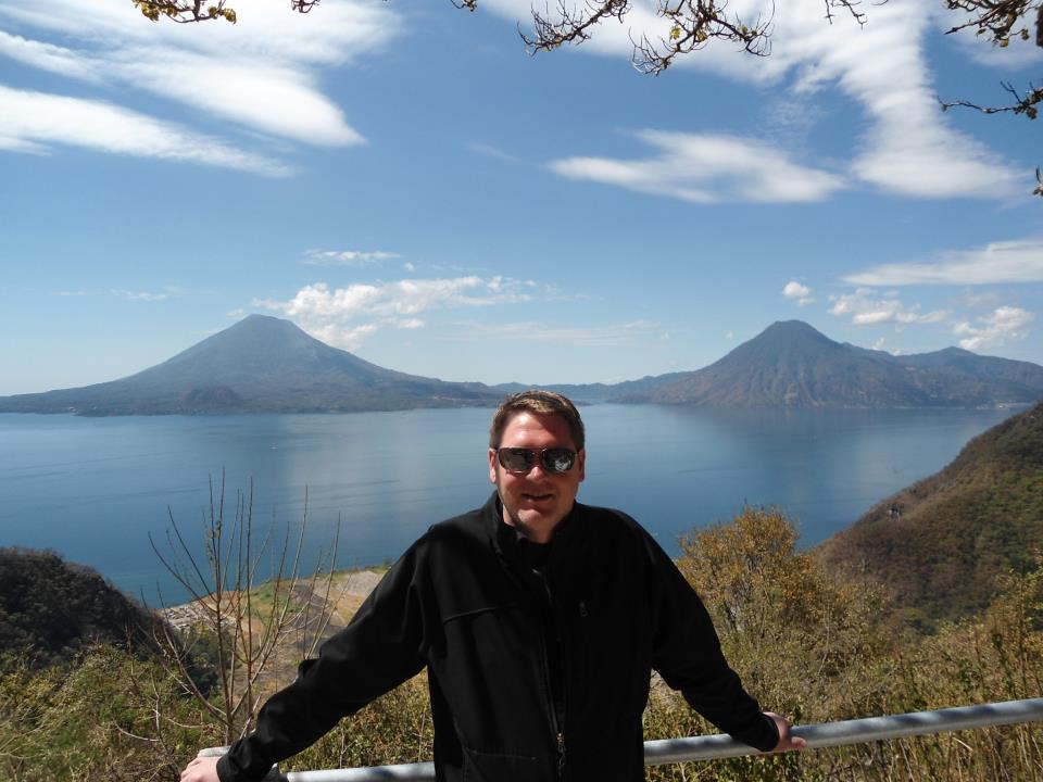 Geoffrey McGowen visiting Lake Geneva
