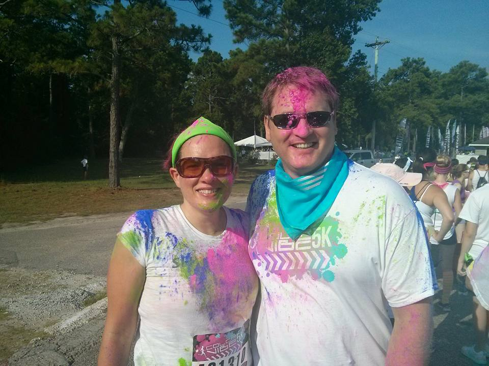 Geoffrey McGowen & wife at the Fun Run in Chattanooga