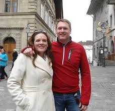 Geoffrey McGowen and wife in Europe.